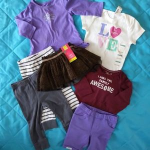 6-12 month Baby girl clothes 7 piece lot